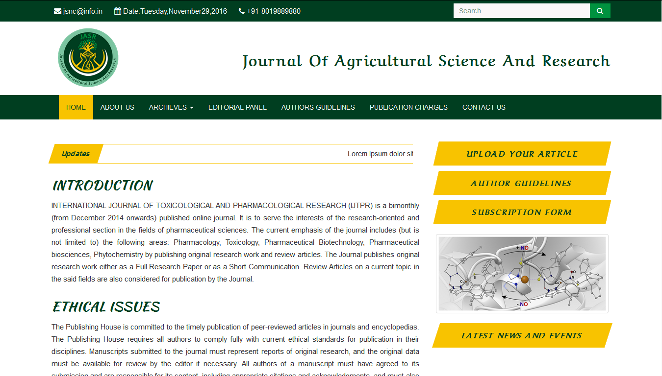 journal of agricultural science and research